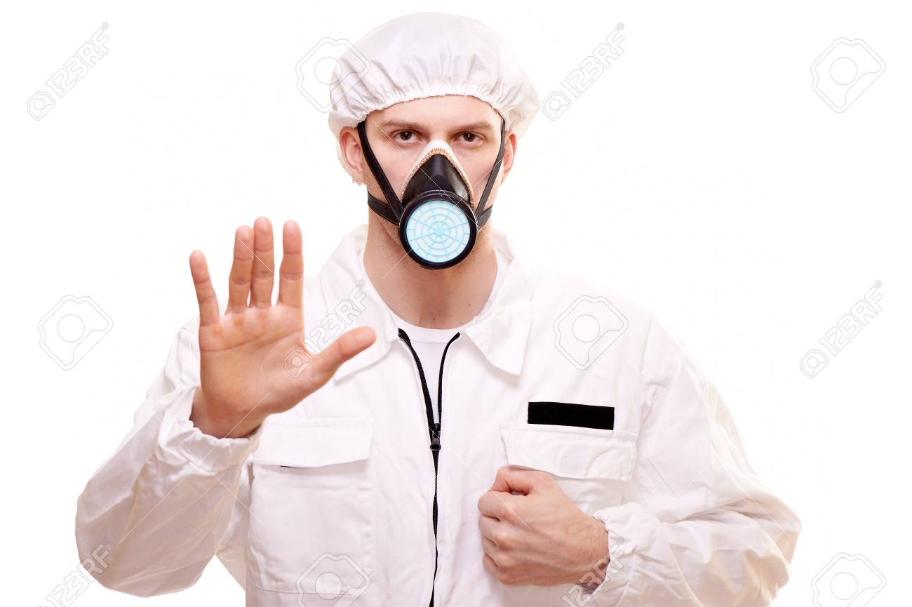 Portrait of a man in protective wear Stock Photo - 8885199