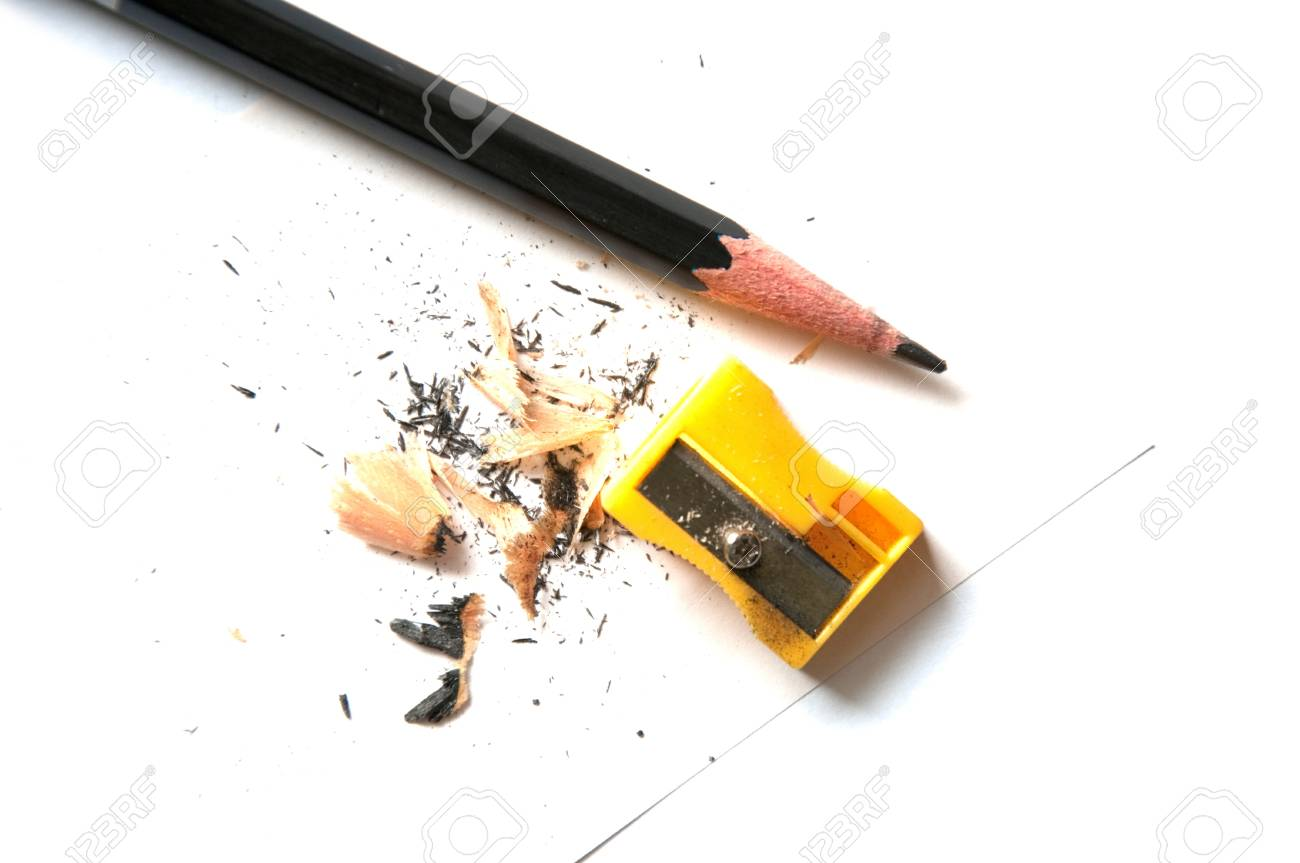 A very sharp pencil and a sharpener Stock Photo - 10302857