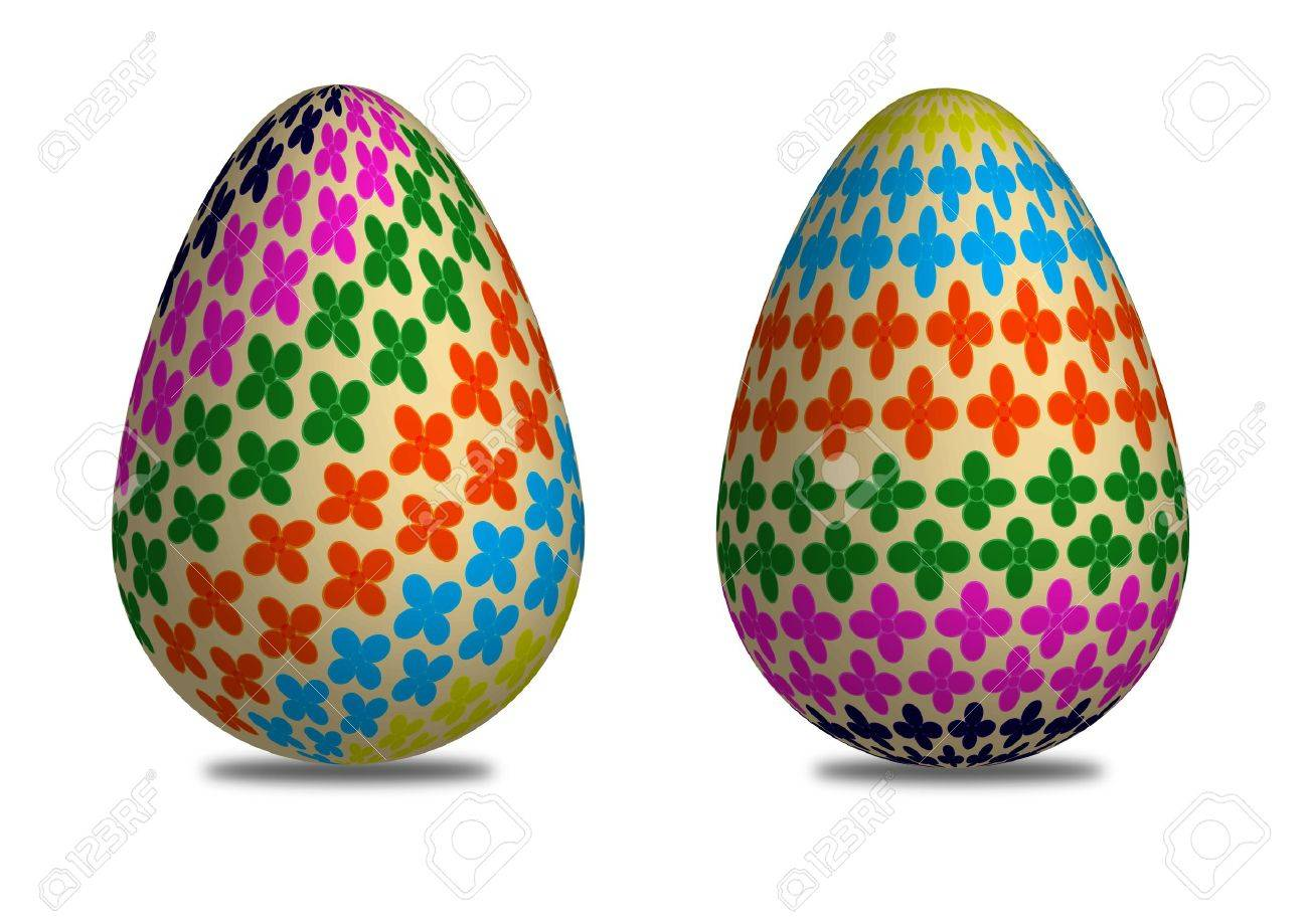 3D easter egg pattern of flower Stock Photo - 11064212