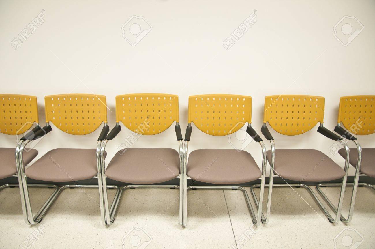 chairs waiting the yellow chairs pattern yellow chairs Stock Photo - 13425578