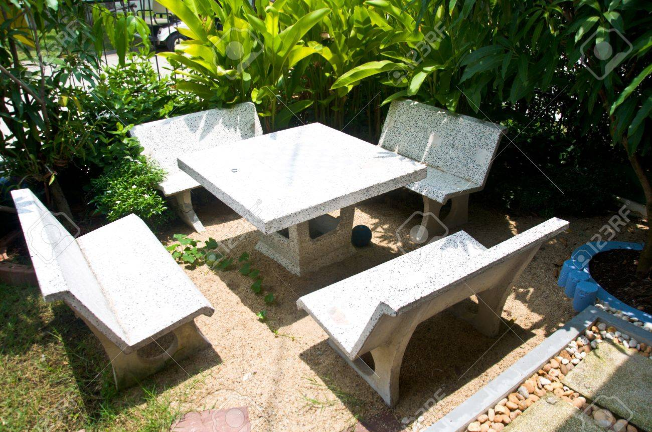 Beautiful Garden Patio Seating Corner Made From Stone Stock Photo Picture And Royalty Free Image Image 14033017