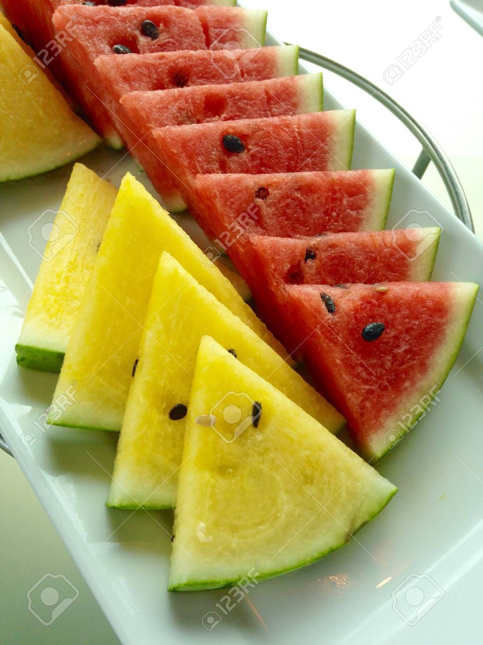 Red And Yellow Watermelon Slice Stock Photo Picture And Royalty Free Image Image 34499419