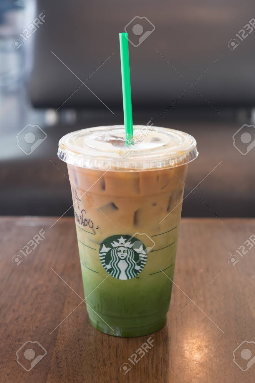 Bangkok Thailand October 3 2016 New Menu Iced Matcha And