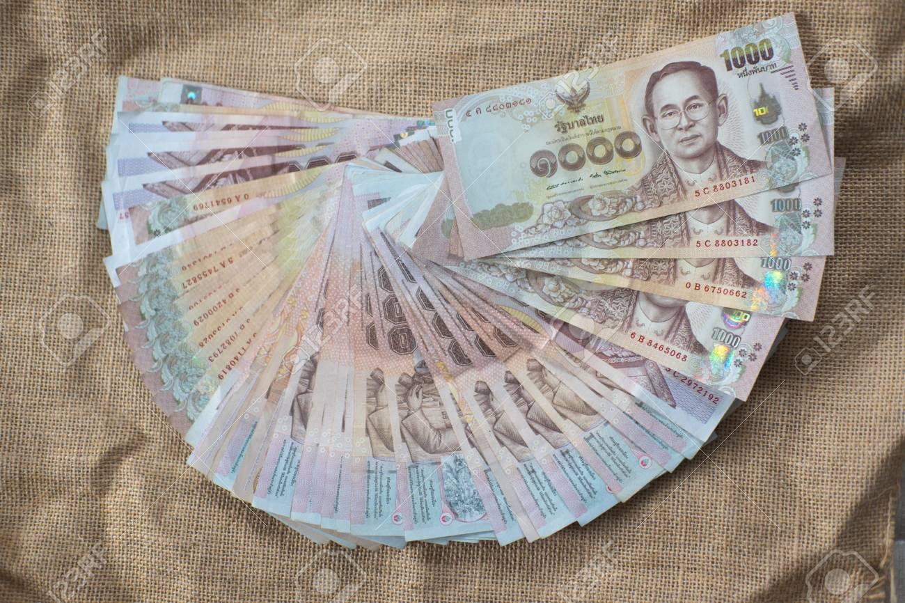 Stock De Monnaie Thailandaise 1000 Baht Thailande Banque D Images