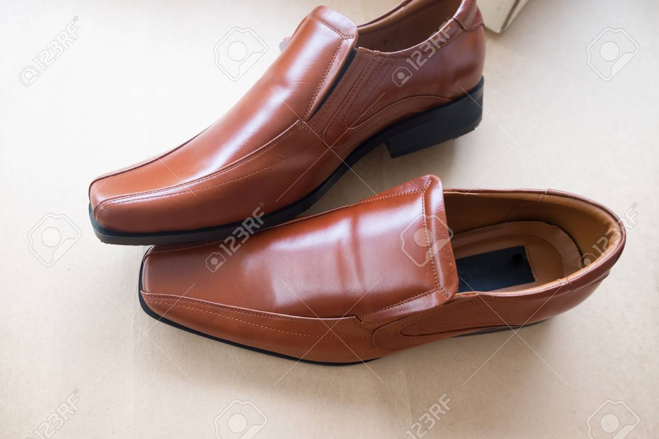 994fd6db3a5 Bridal brown shoes for groom. For wedding event. Stock Photo - 92245290