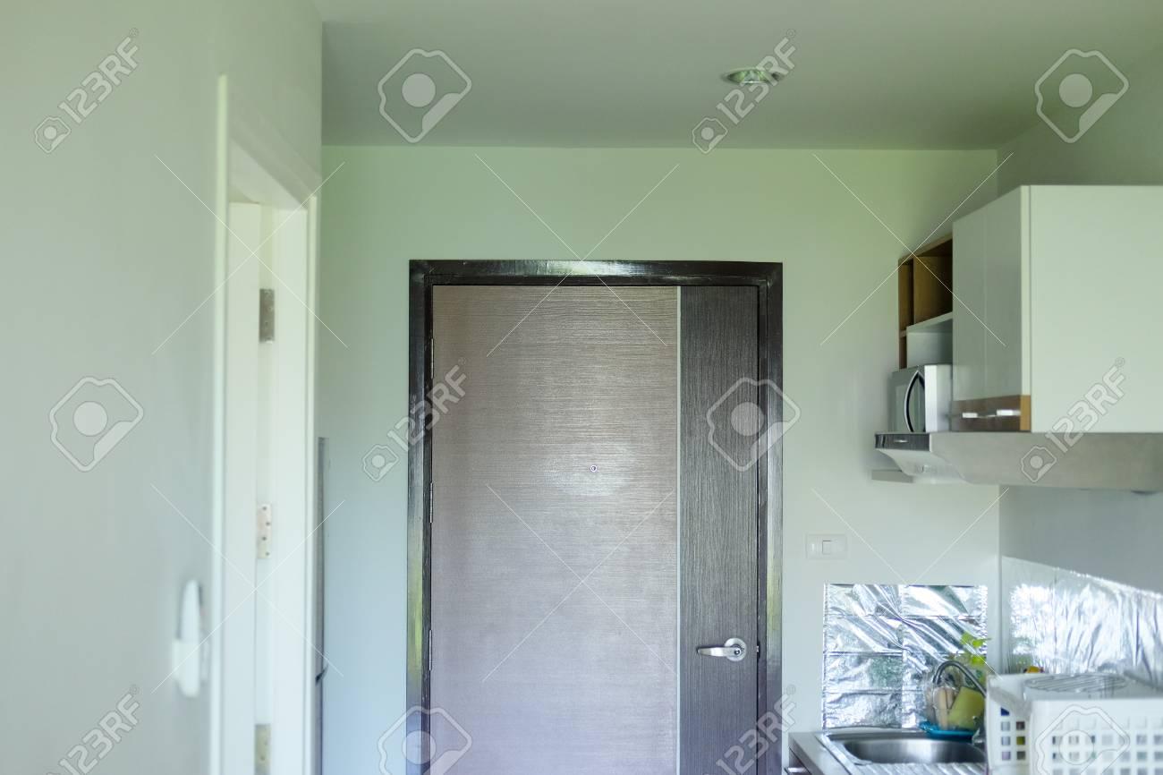 Kitchen Interior Design In Condo Small Condo Room Stock Photo Picture And Royalty Free Image Image 110610276