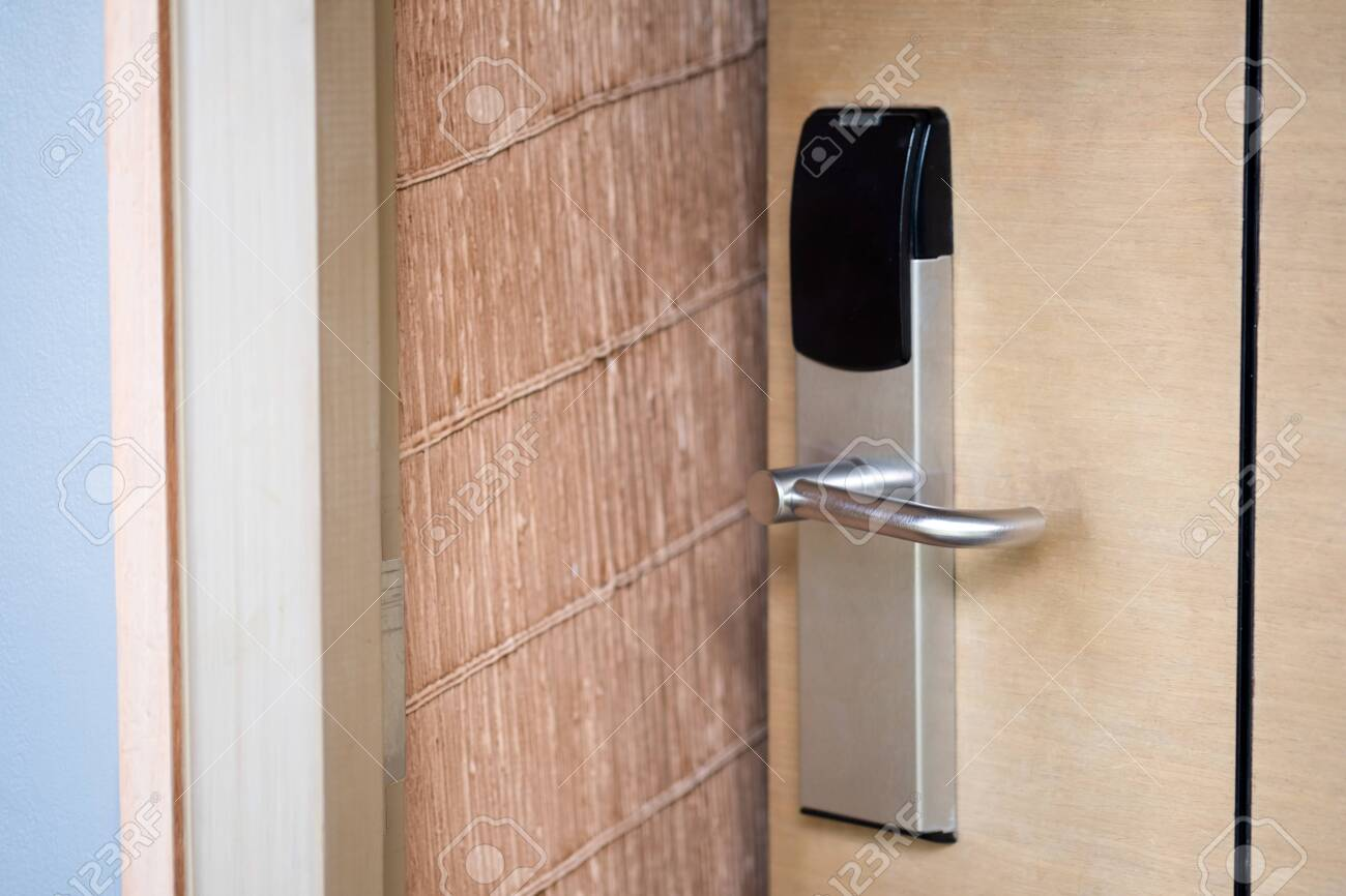 Hotel Or Apartment Bedroom Door Used Digital Door Lock For Access Stock Photo Picture And Royalty Free Image Image 143024322