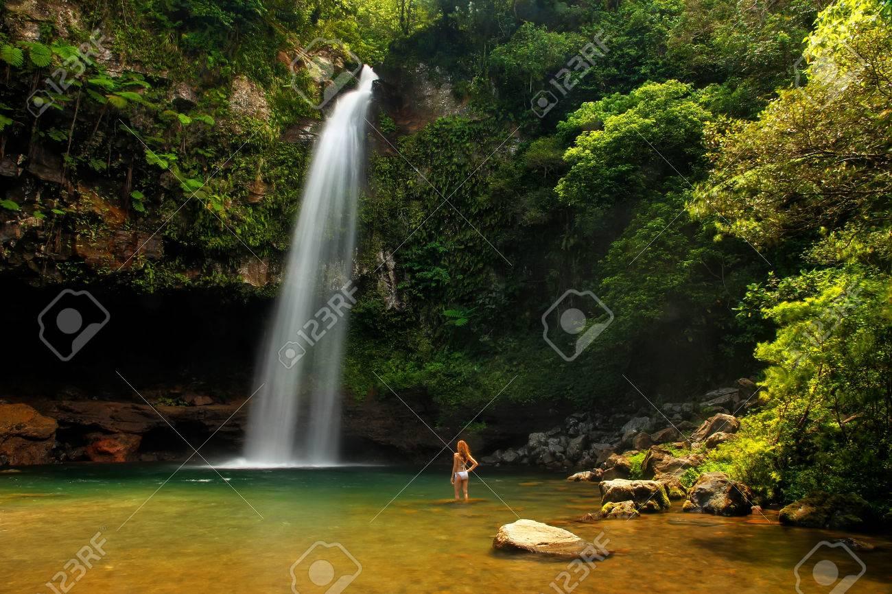 Lower Tavoro Waterfalls In Bouma National Heritage Park On Taveuni
