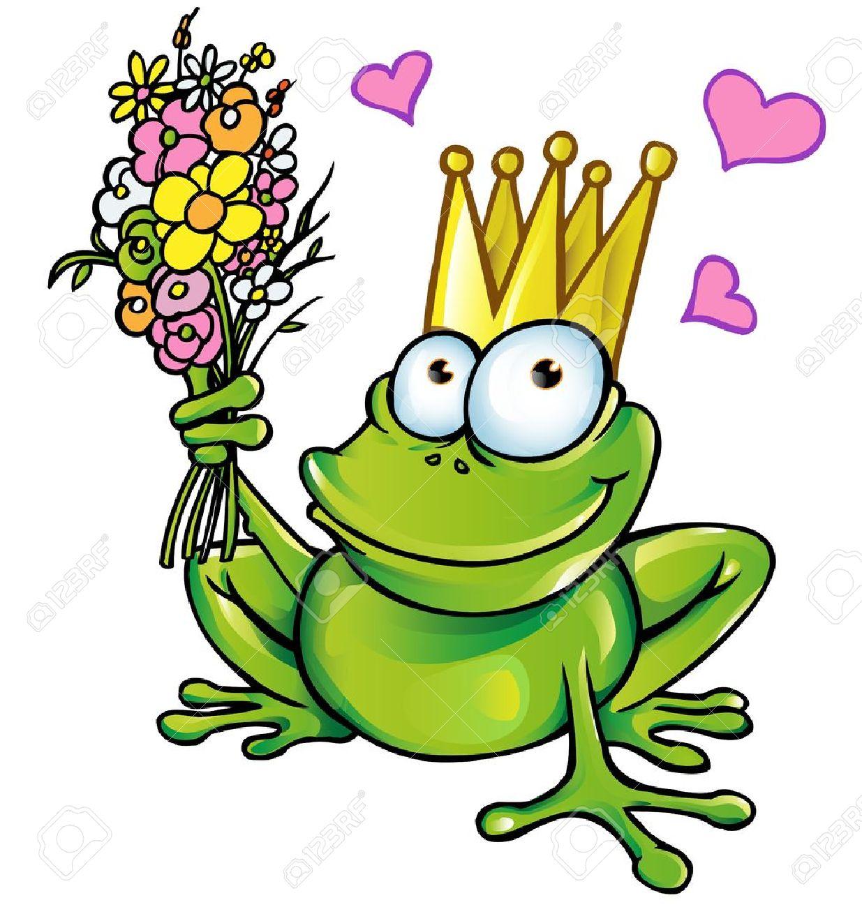 Uncategorized Principe Sapo sapo com bouquet royalty free cliparts vetores e imagens 18514039
