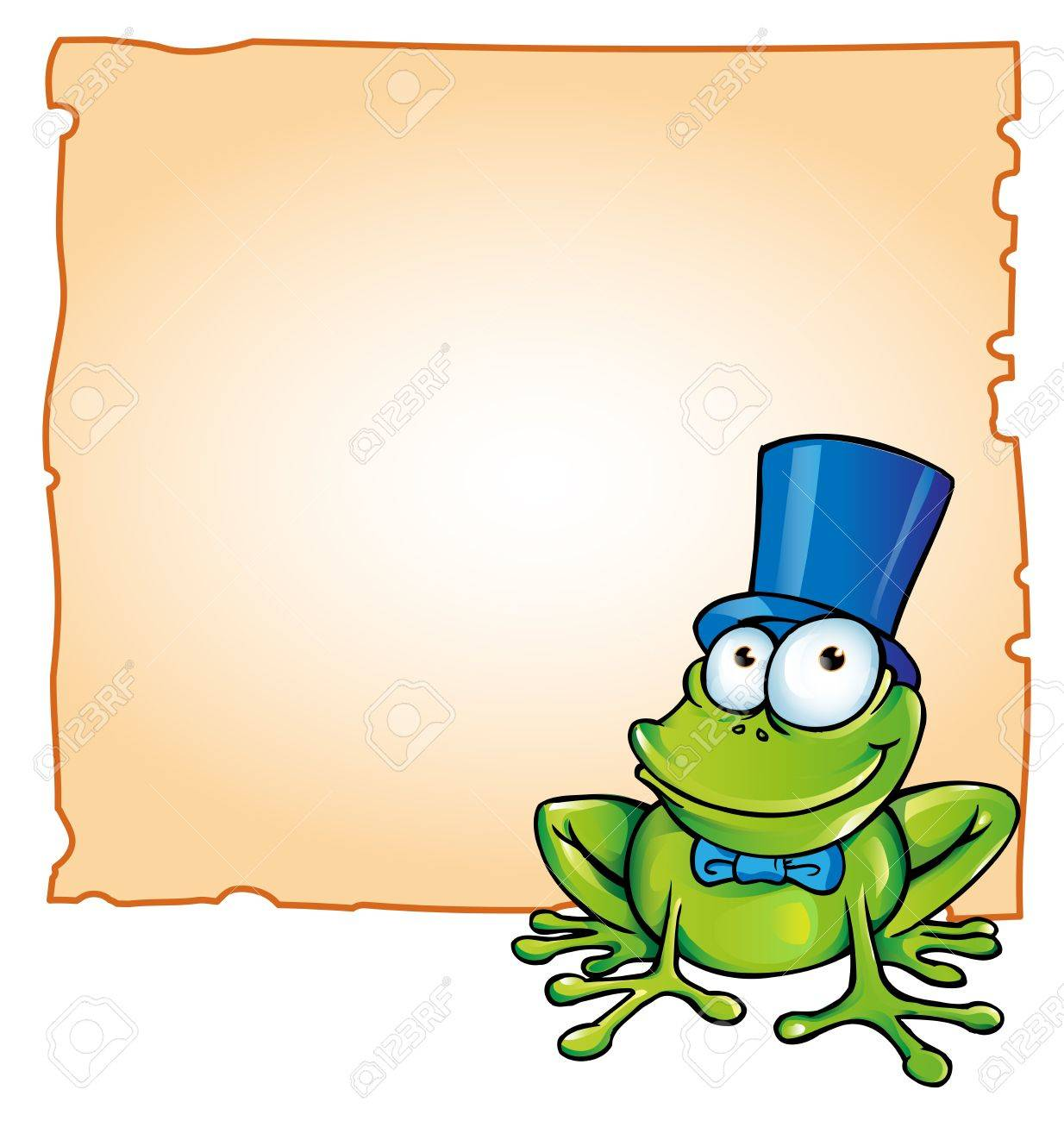 party frog with background Stock Vector - 18514030