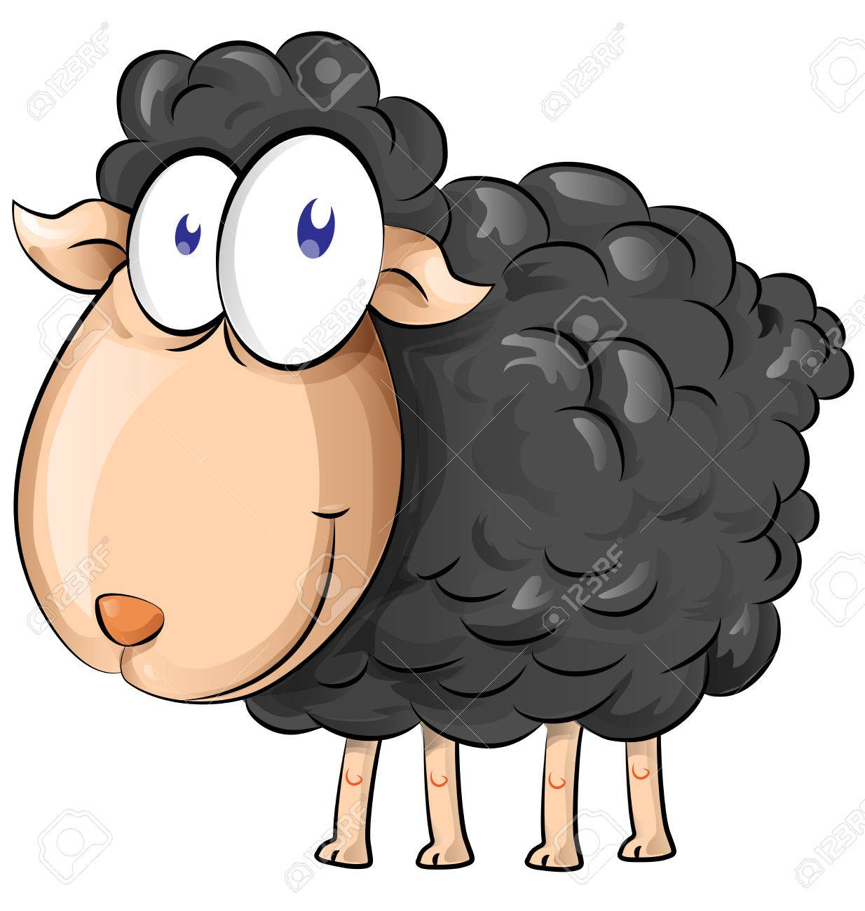 black sheep cartoon isolate on white background royalty free rh 123rf com black sheep clip art free black sheep clipart graphics