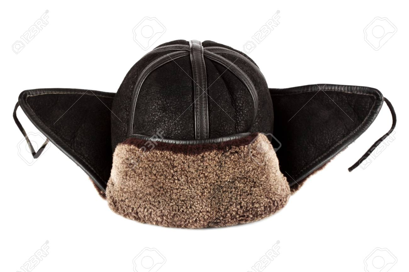 Stock Photo - Winter hat ear flaps on the white background 3a7e76d6f78