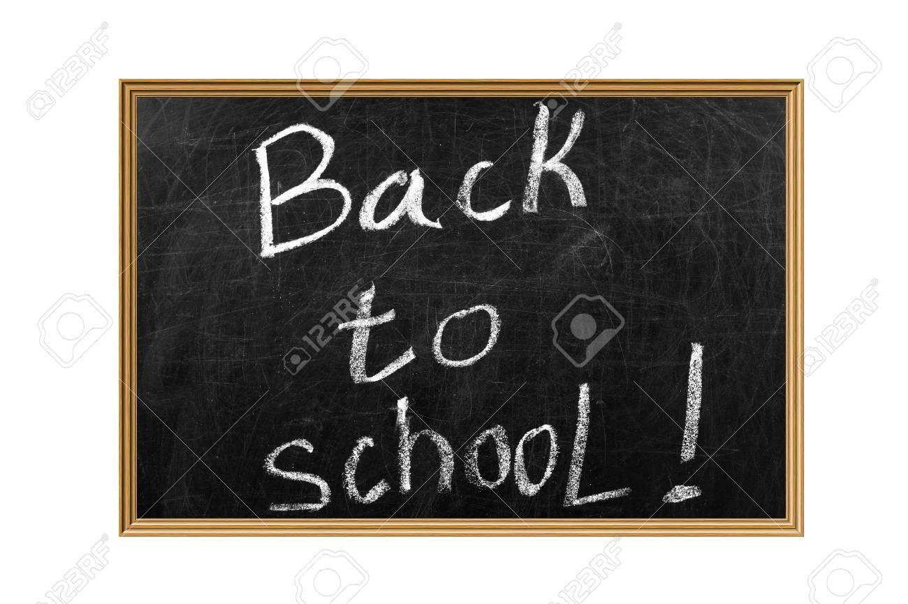 Back to School slogan on a Blackboard Stock Photo - 12154577