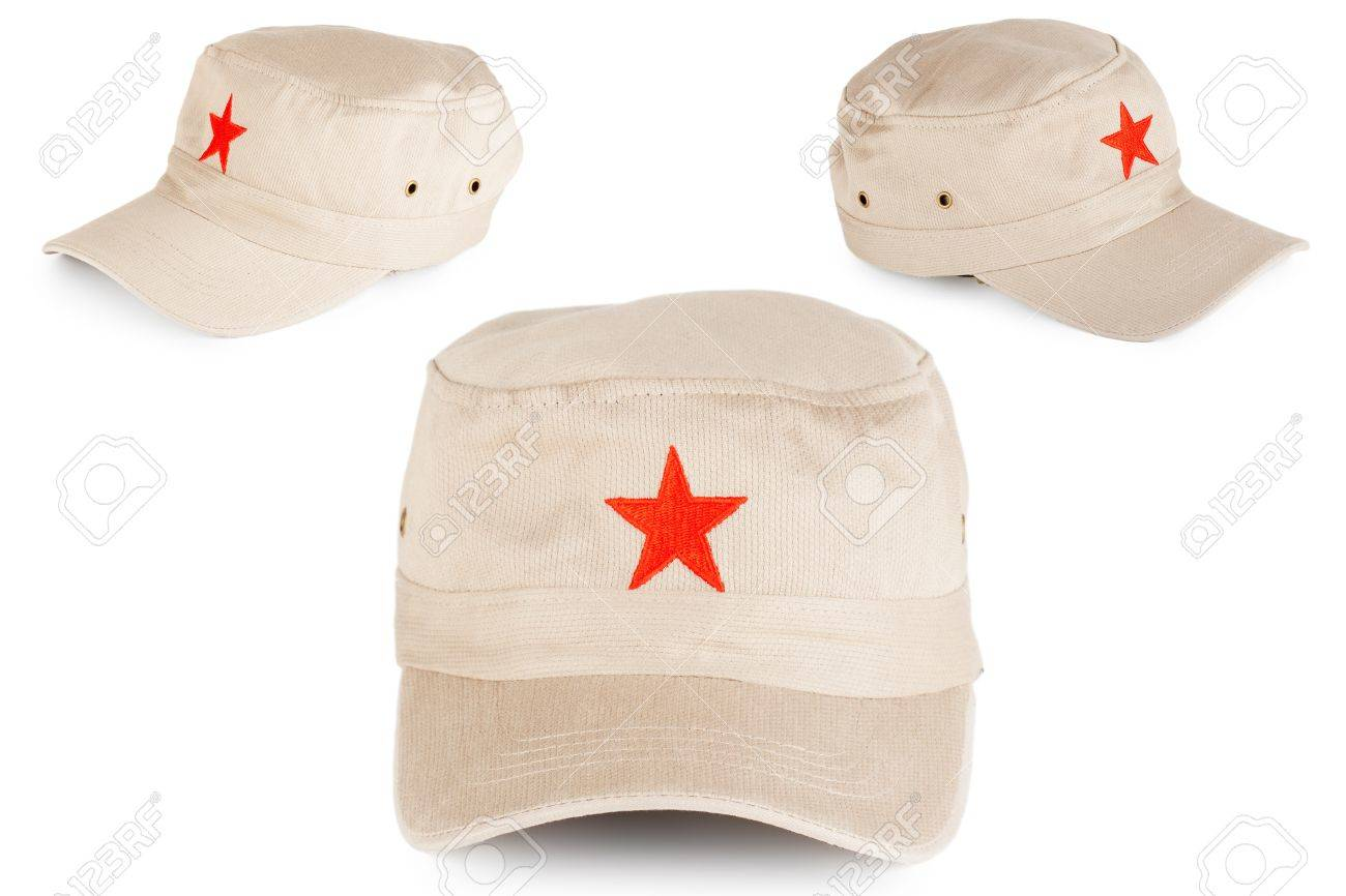 0f39a6131 Communist hat with red star on a white background