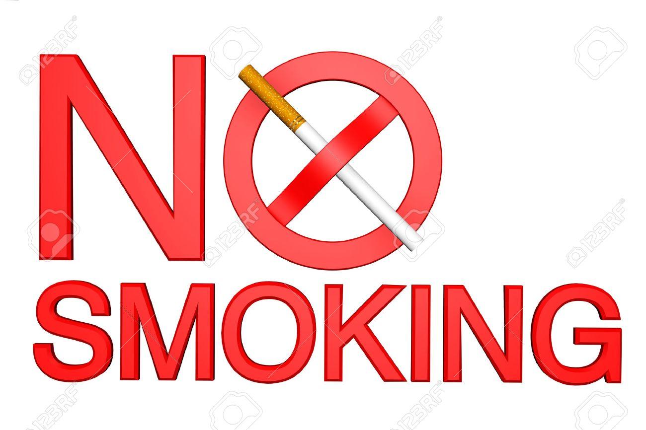No Smoking sign on a white background Stock Photo - 14159427