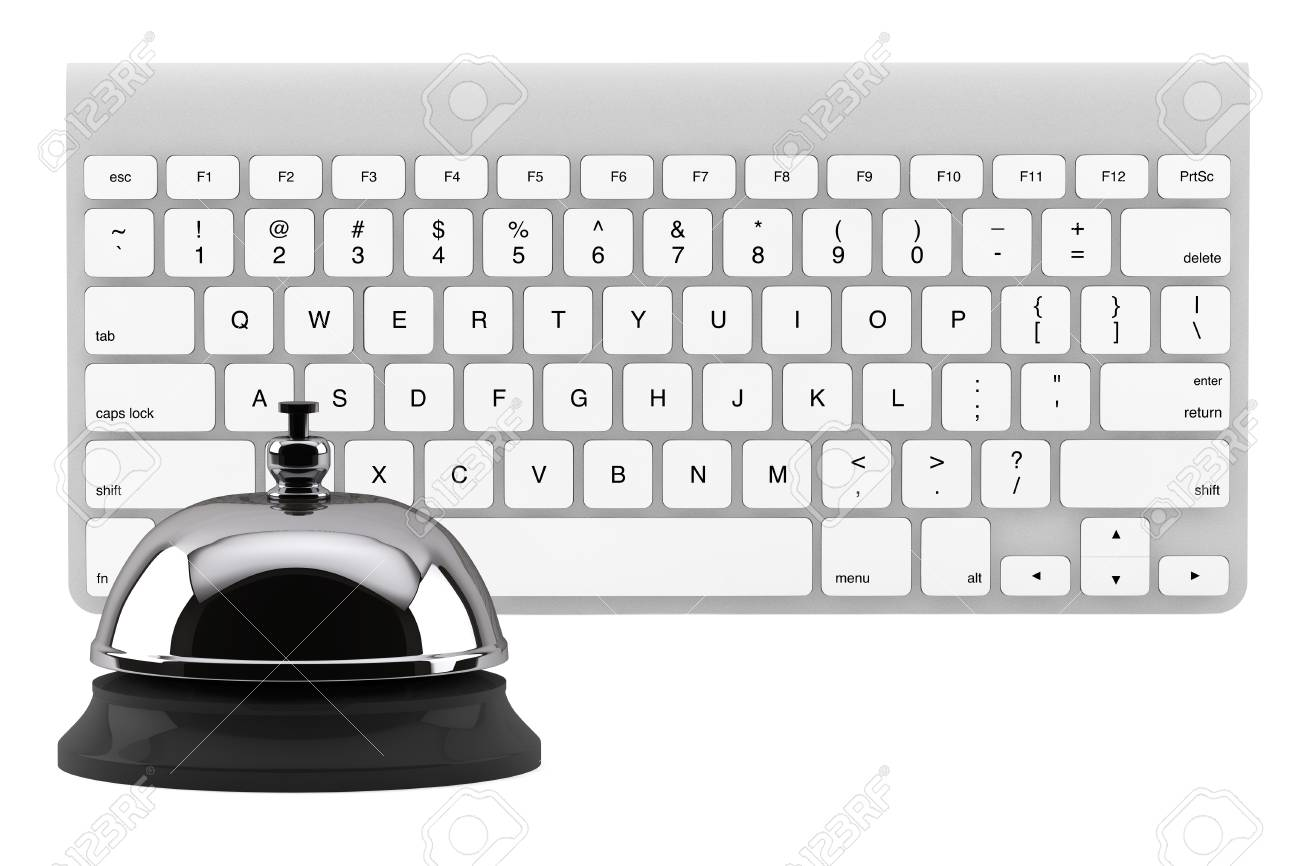 Service Bell ring with keyboard on the white background Stock Photo - 14269046