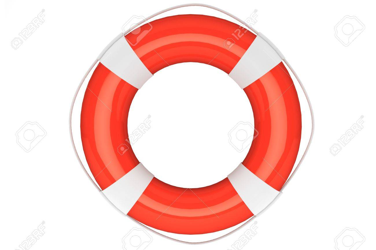 Assistance Concept. Life Buoy on a white background Stock Photo - 16061010