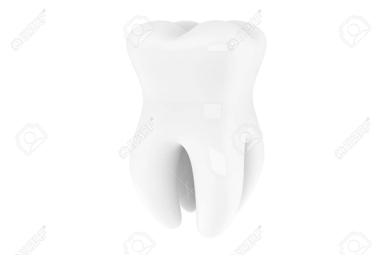 Stomatology concept. Extreme closeup tooth on a white background Stock Photo - 16060976