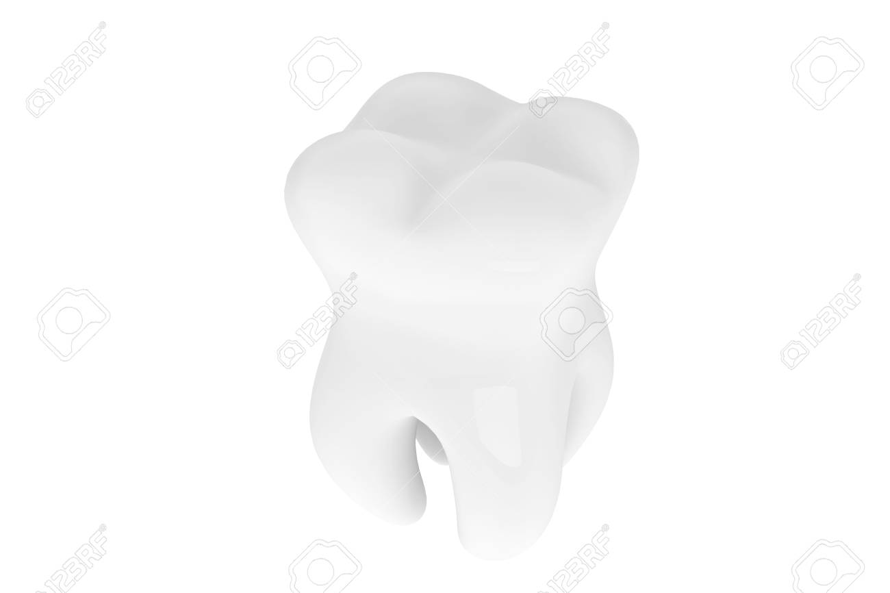 Stomatology concept. Extreme closeup tooth on a white background Stock Photo - 16060973