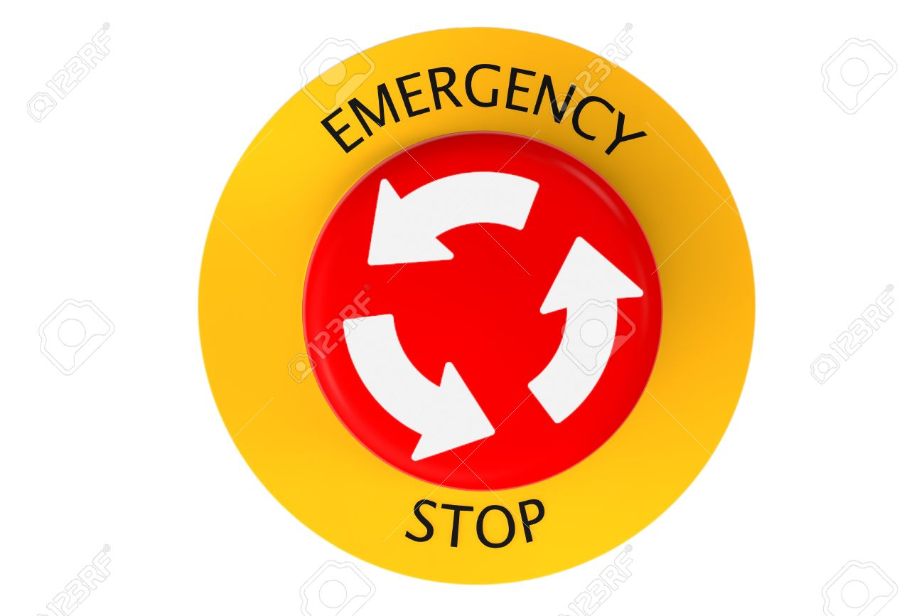 Emergency stop icon clipart emergency off - Red Emergency Stop Button On A White Background Stock Photo 21221683