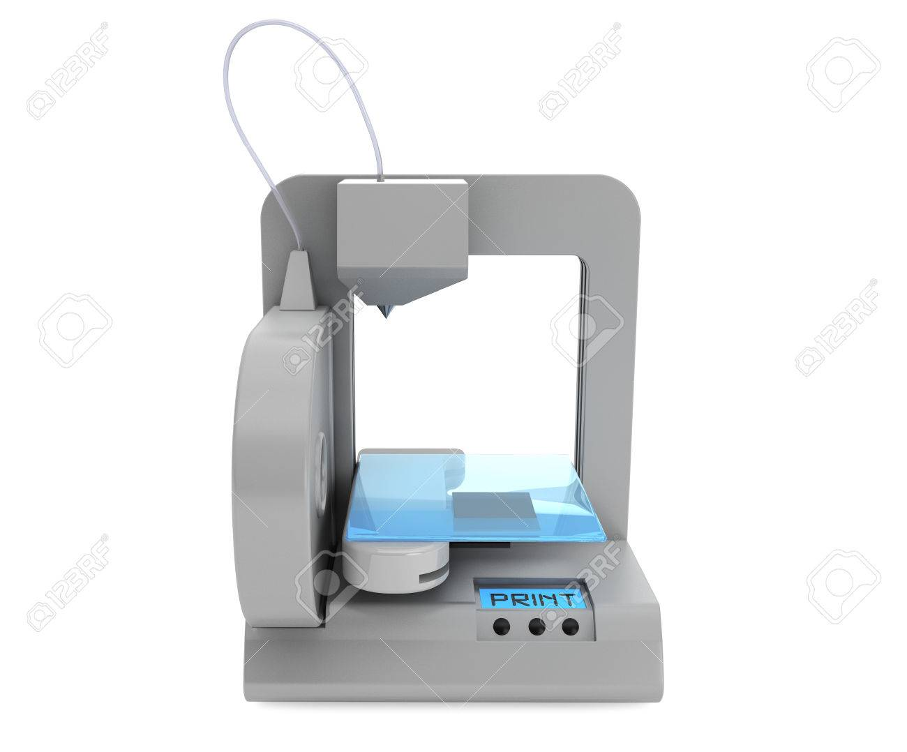 Technology concept. Modern Home 3d printer on a white background Stock Photo - 22801102