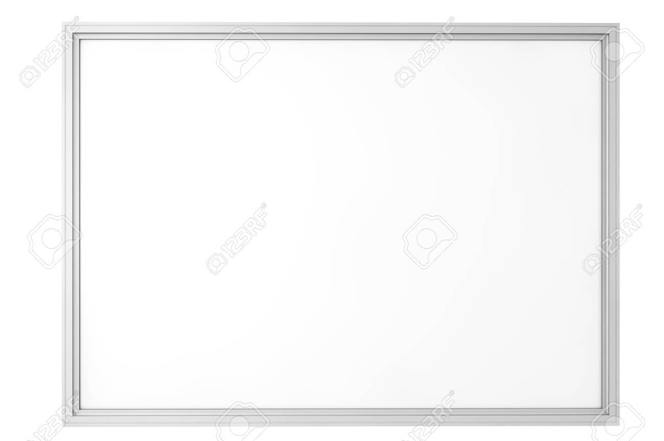 blank classroom whiteboard isolated on a white background stock
