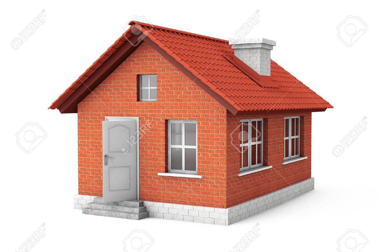 3D Haus Auf Einem Weißen Hintergrund Standard Bild   27885530
