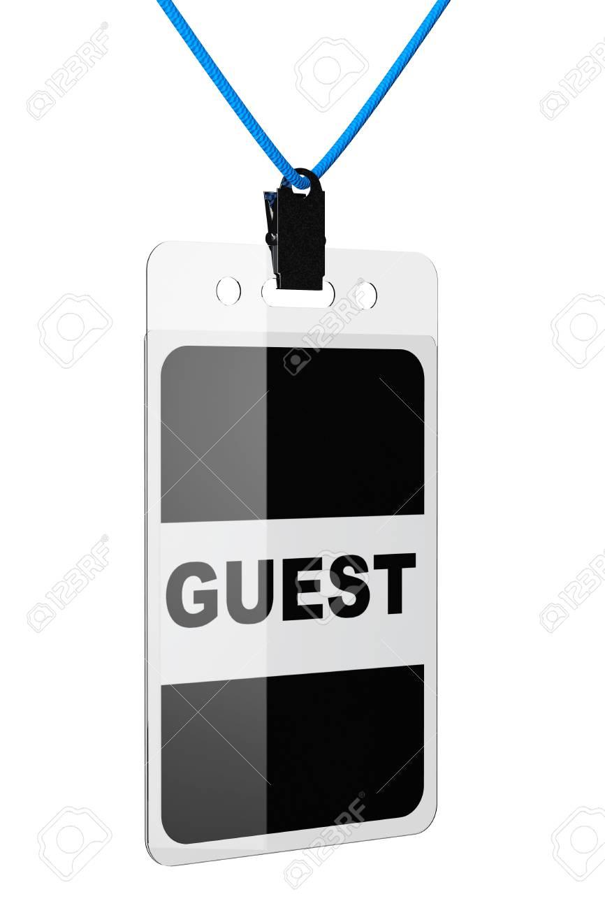 白い背景の上のゲスト Id カード の写真素材・画像素材 Image 34971841.