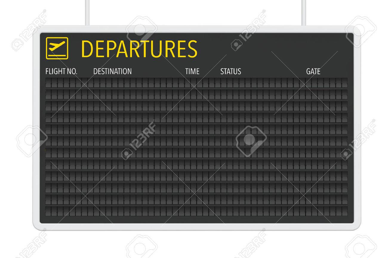 Airport Blank Departures Table on a white background - 55744000