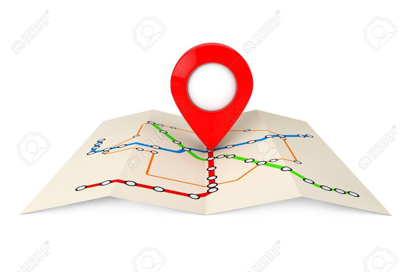 Resumen De Transporte Metrópoli O Mapa De Metro Con El Objetivo Rojo ...