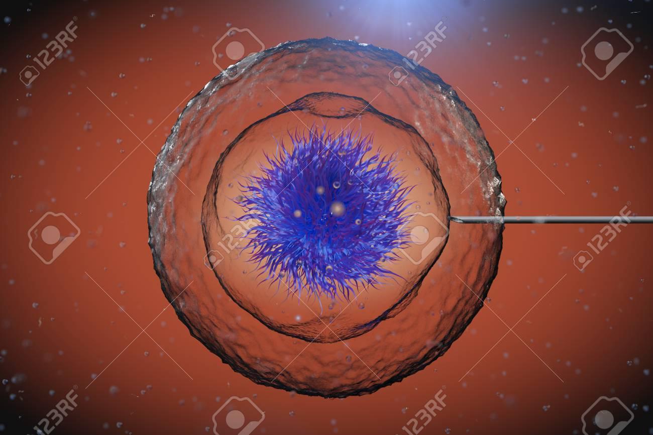 Cellule Humaine résumé cellule humaine avec tube aiguille sous microscope extrême