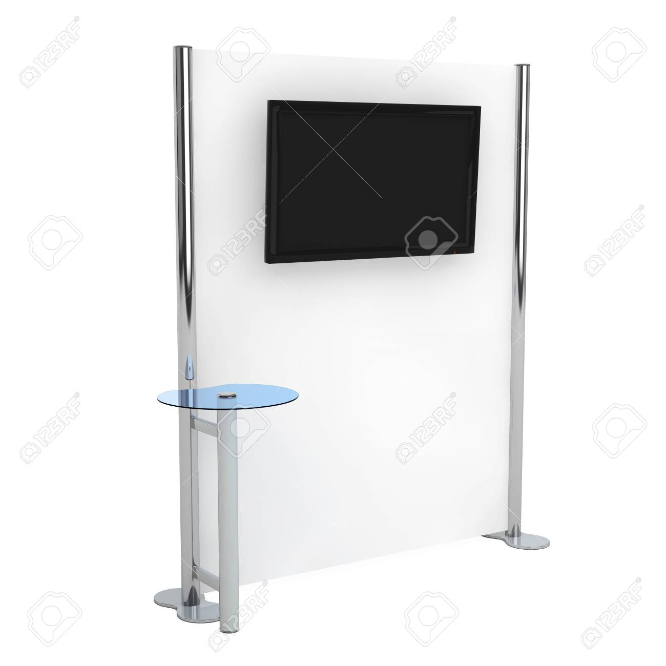 Exhibition Stand Information : Trade commercial exhibition stand with information monitor on