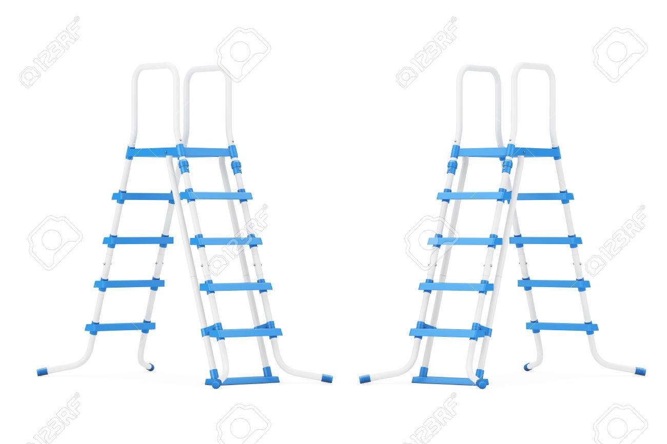Plastic Outdoor Swimming Pool Ladders on a white background...