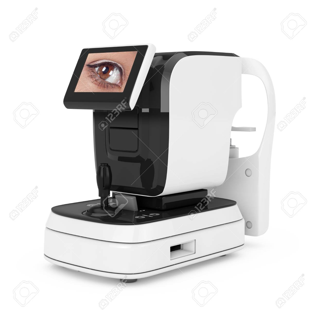 Optical Auto Refractometer Eye Test Machine on a white background