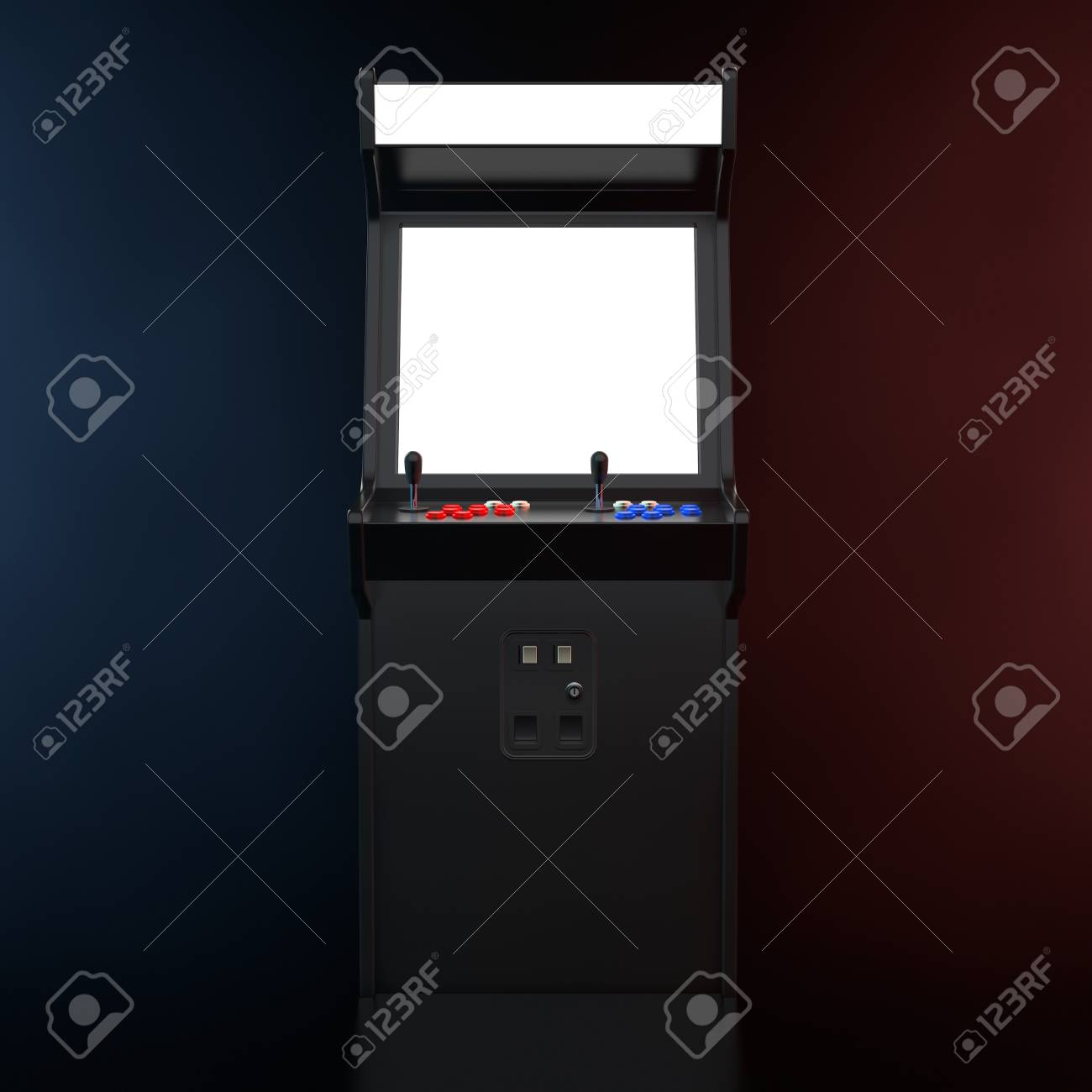 Gaming Arcade Machine With Blank Screen For Your Design In The