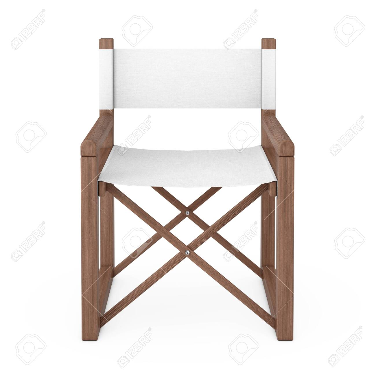 Modern Wooden Folding Director or Garden Chair on a white background...
