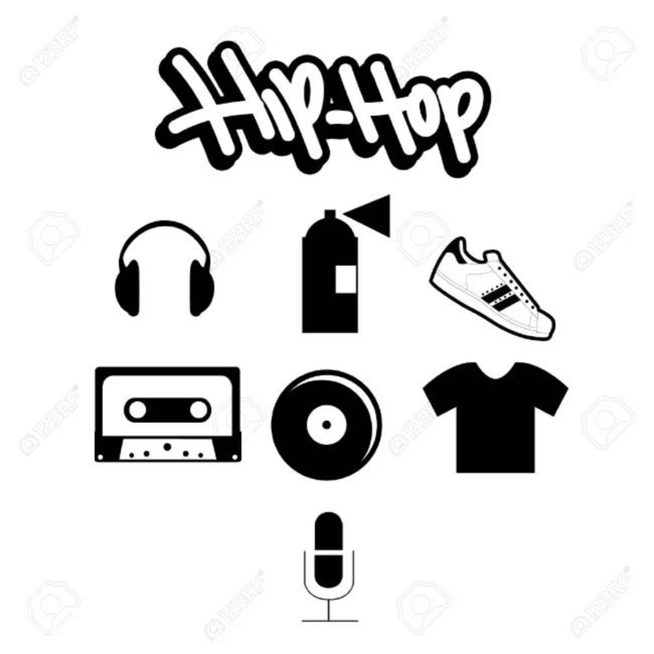 Hiphop Elements Stock Vector 71025794