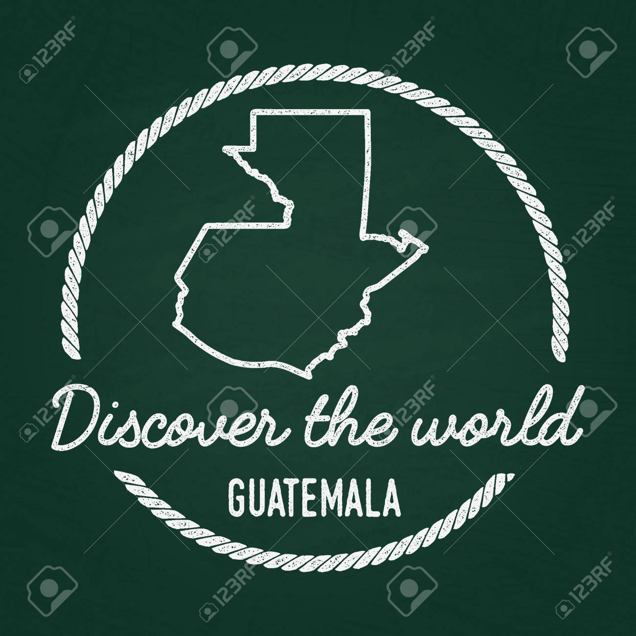 Guatemala Karte.Stock Photo