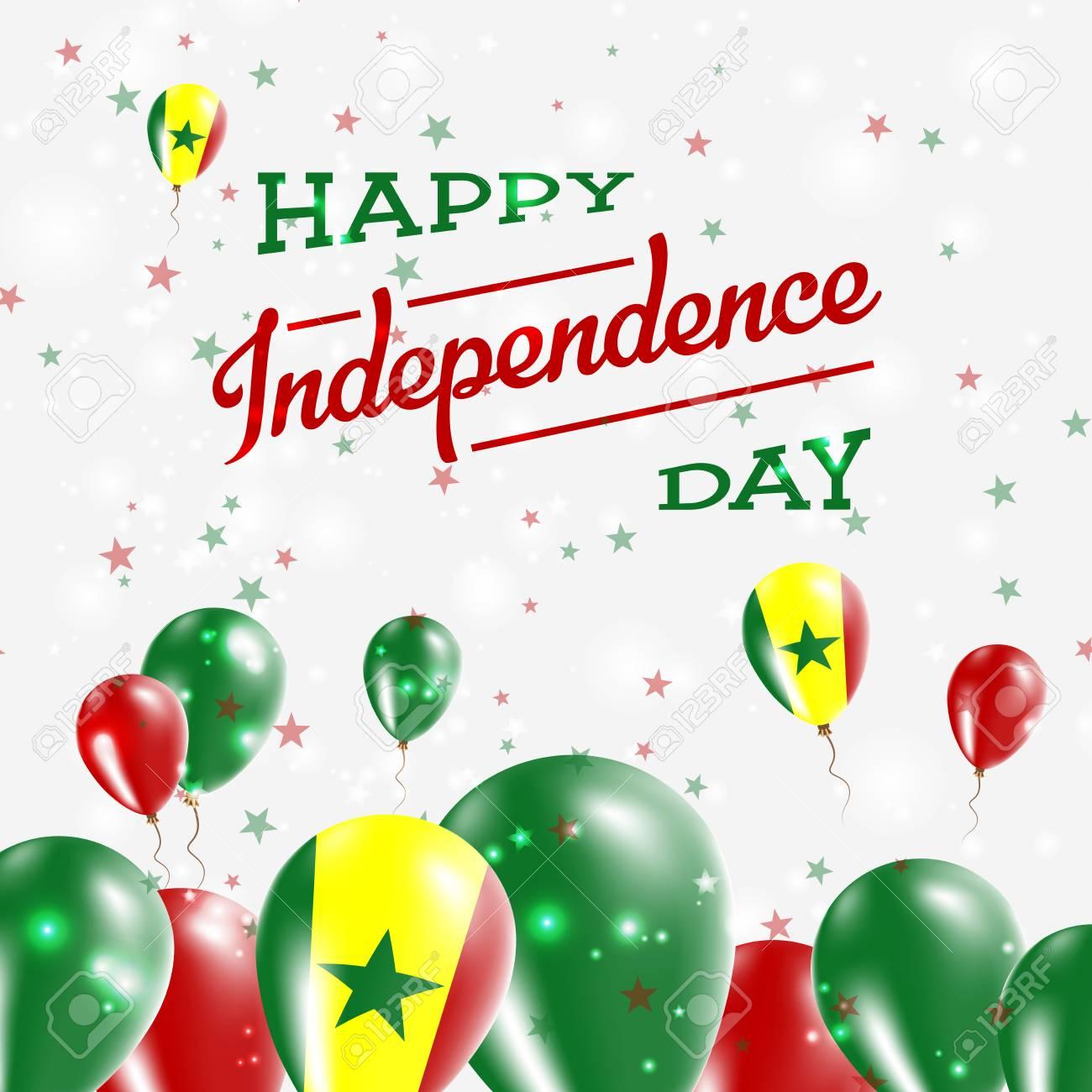 Senegal independence day patriotic design balloons in national senegal independence day patriotic design balloons in national colors of the country happy independence m4hsunfo