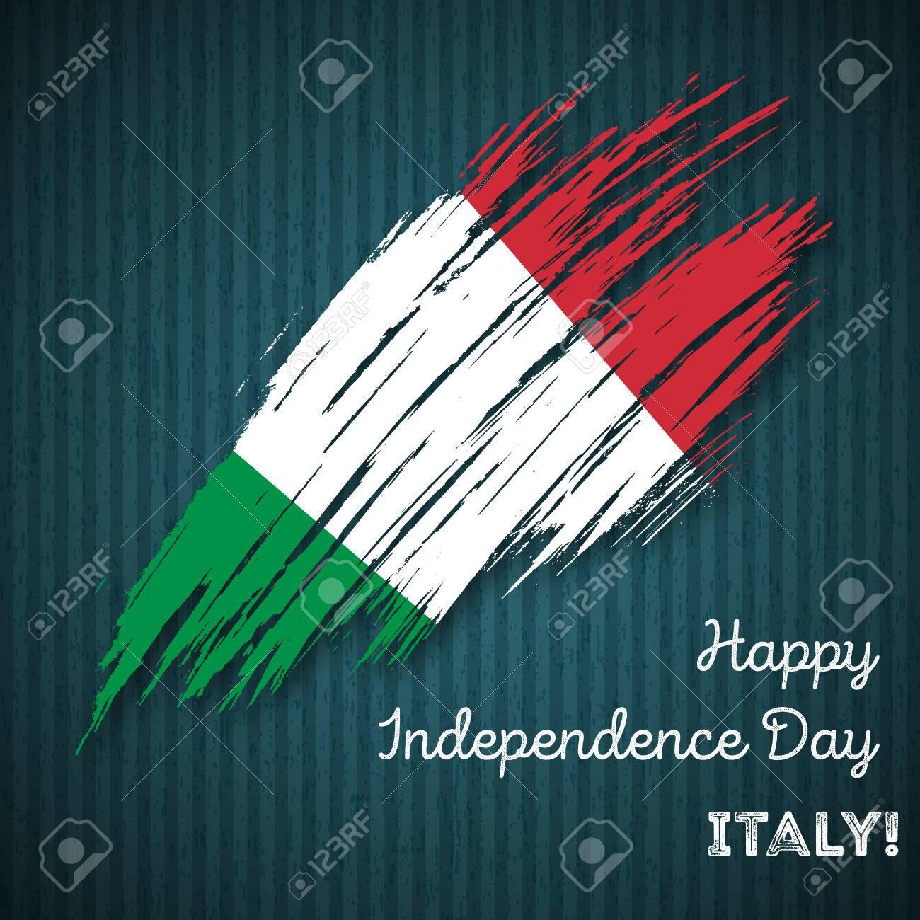 Carte Bonne Fete En Italien.Conception Patriotique De L Independance De L Italie Coupe De