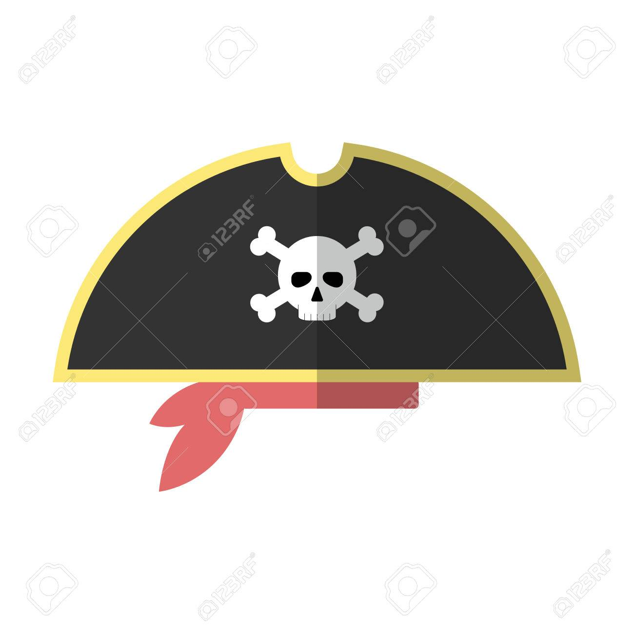 2d29688c Flat Pirate Hat Icon. Royalty Free Cliparts, Vectors, And Stock ...