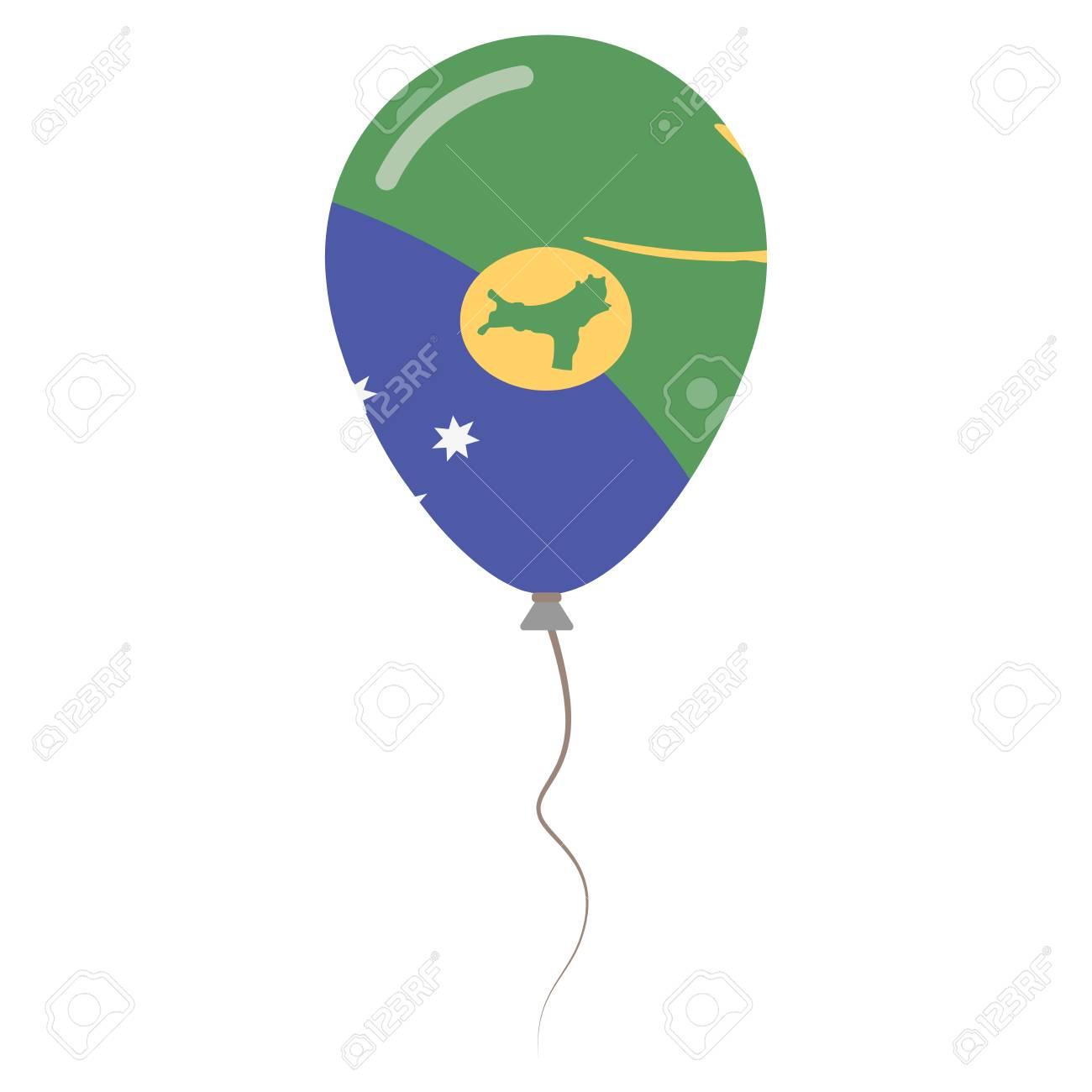 Territory Of Christmas Island National Colors Isolated Balloon ...