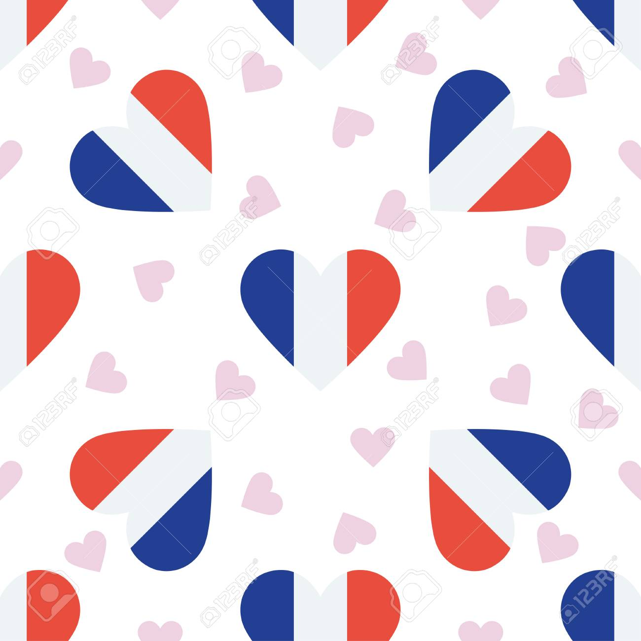 new caledonia independence day seamless pattern patriotic