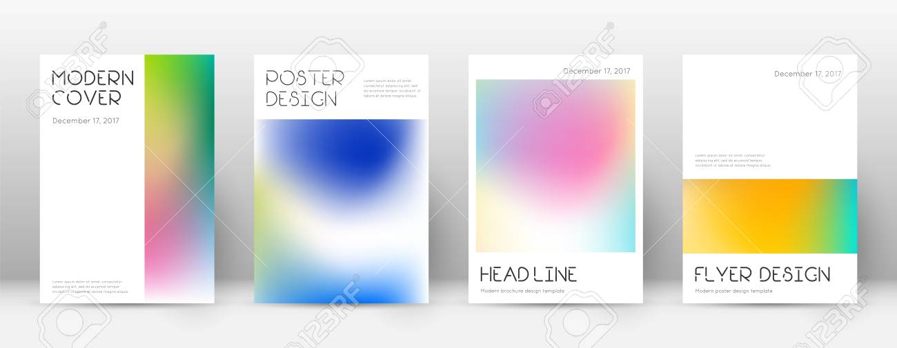 flyer layout minimal modern template for brochure annual report
