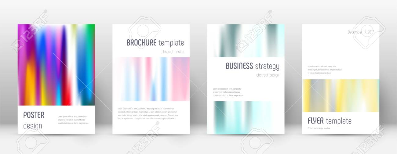 minimalistic fancy template for brochure annual report magazine