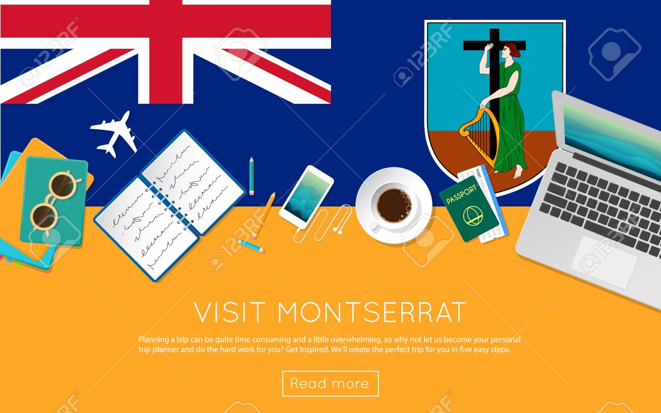 Visit Montserrat concept for your web banner or print materials