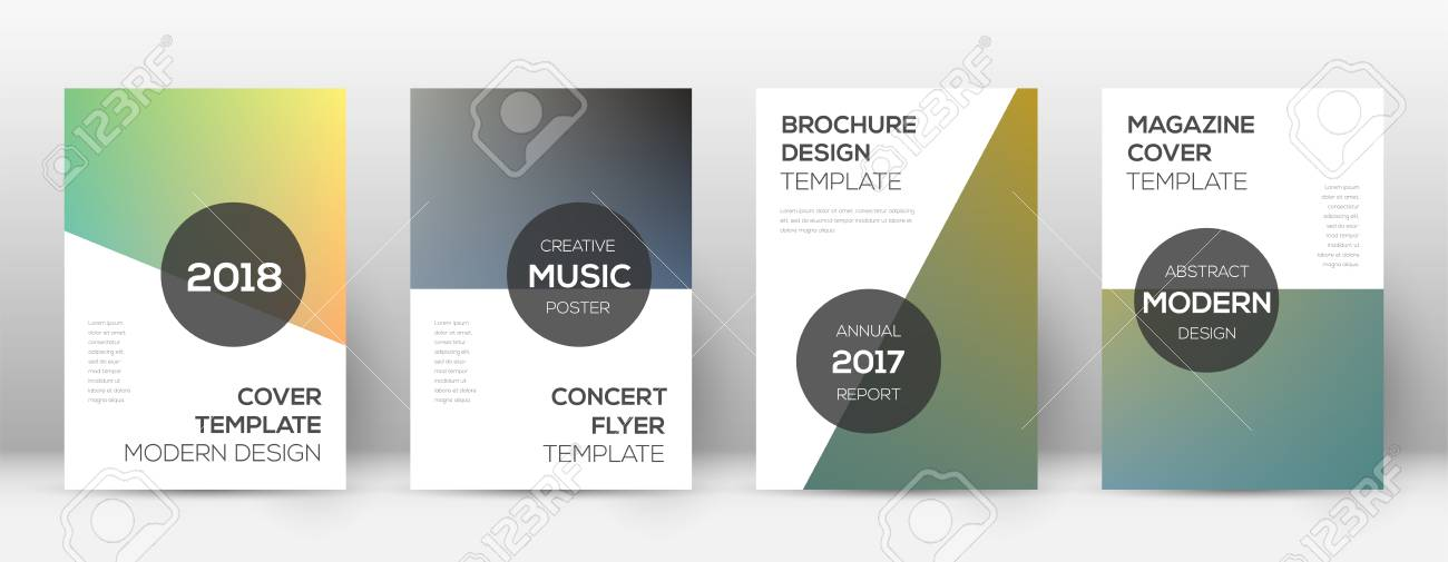 Flyer Layout Modern Exotic Template For Brochure Annual Report