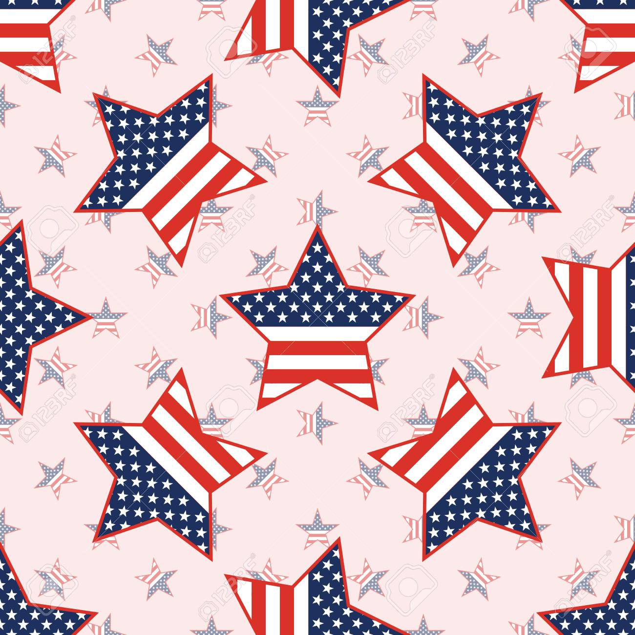 USA patriotic stars seamless pattern on national stars background. American patriotic wallpaper with USA patriotic