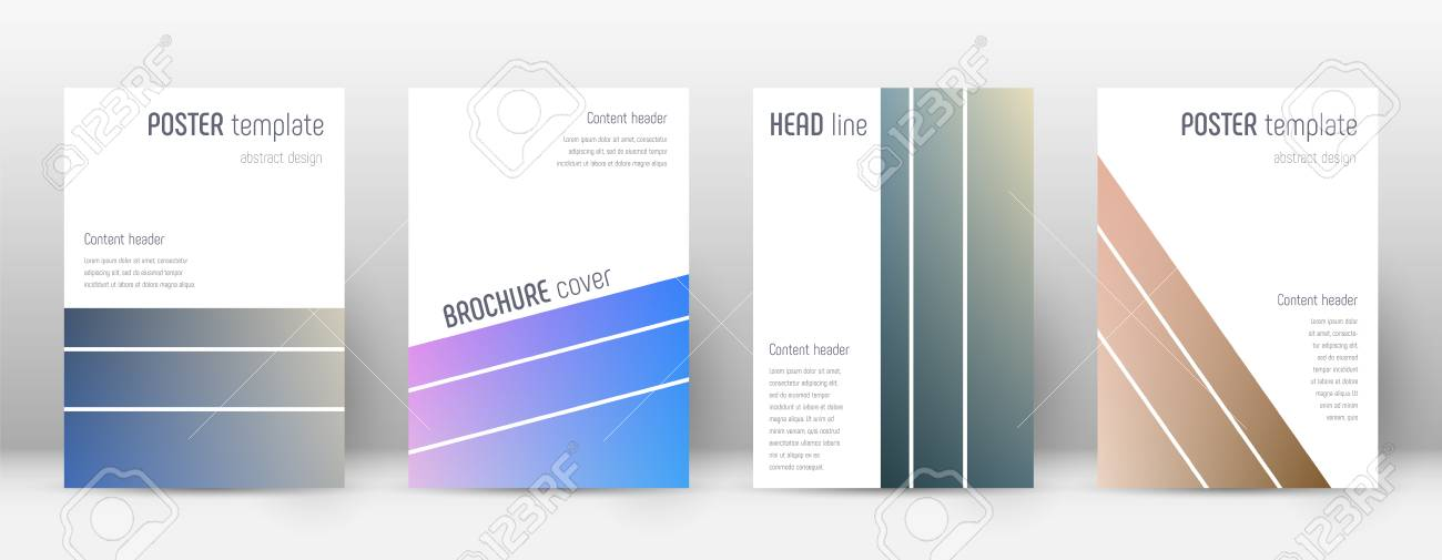 various set of layout in geometric valuable template for brochure