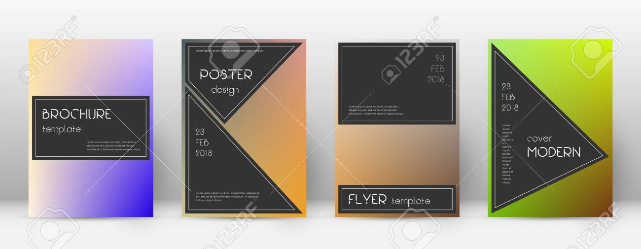 Flyer Layout Black Cool Template For Brochure Annual Report